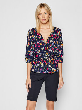 Lauren Ralph Lauren Lauren Ralph Lauren Bluse Lsl 200831582001 Dunkelblau Relaxed Fit