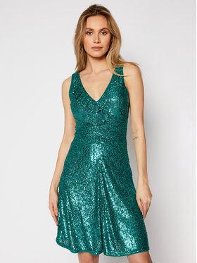 Pinko Pinko Koktejlové šaty Australiano PE 21 BLK01 1G1607 8444 Zelená Slim Fit
