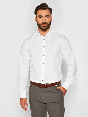 Tommy Hilfiger Tailored Tommy Hilfiger Tailored Koszula Dobby TT0TT08319 Biały Slim Fit