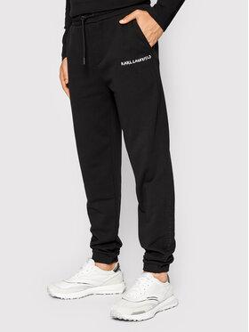 KARL LAGERFELD KARL LAGERFELD Spodnie dresowe 705022 512900 Czarny Regular Fit