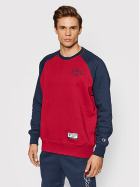 Champion Champion Bluză Collegiate Logo Colour Block 216913 Bej Custom Fit