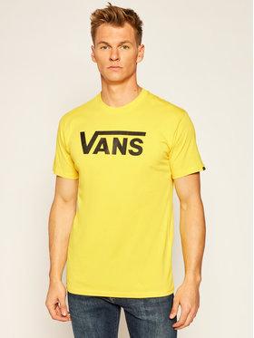 Vans Vans Тишърт Classic VN000GGG Жълт Regular Fit