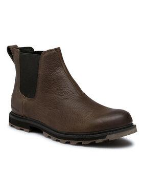 Sorel Sorel Členková obuv s elastickým prvkom Madson II Chelsea Wp NM3845 Hnedá