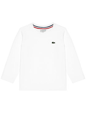 Lacoste Lacoste Bluzka Unisex TJ2093 Biały Regular Fit