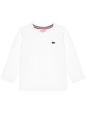 Lacoste Lacoste Μπλουζάκι Unisex TJ2093 Λευκό Regular Fit