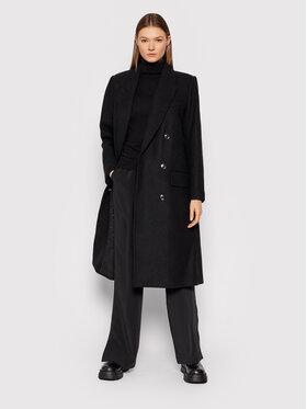 Gestuz Gestuz Vlnený kabát Chantal 10905544 Čierna Loose Fit