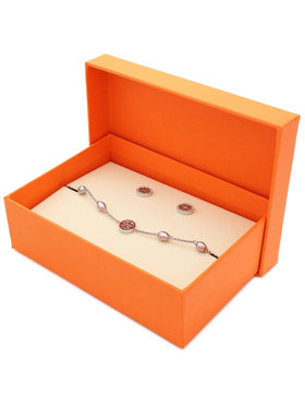 Tory Burch Tory Burch Set náhrdelník a náušnice Miller Pave 80319 Strieborná