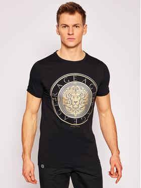Rage Age Rage Age T-Shirt Gold Lion Czarny Slim Fit