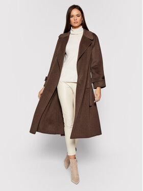 Luisa Spagnoli Luisa Spagnoli Μάλλινο παλτό Storico 537363 Καφέ Regular Fit