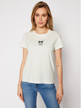 Pinko Pinko T-Shirt Bussolano PE 21 BLK01 1G1619 Y651 Λευκό Regular Fit