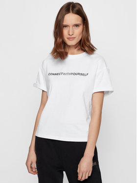 Boss Boss T-shirt C_EvinaSlogan_Active 50457389 Bijela Comfort Fit