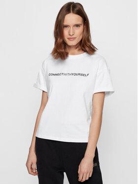 Boss Boss T-Shirt C_EvinaSlogan_Active 50457389 Weiß Comfort Fit