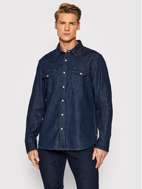 Guess Guess cămașă de blugi Camicia M1BH12 R4DL1 Bleumarin Regular Fit