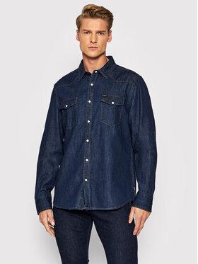 Guess Guess дънкова риза Camicia M1BH12 R4DL1 Тъмносин Regular Fit