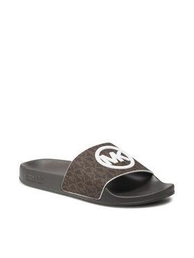 MICHAEL Michael Kors MICHAEL Michael Kors Mules / sandales de bain Gilmore Slide 40S1GMFA2B Marron
