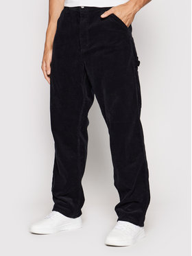 Carhartt WIP Carhartt WIP Текстилни панталони Single Knee I028627 Тъмносин Relaxed Fit