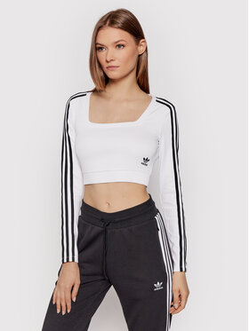 adidas adidas Блуза adicolor Classics H37769 Бял Fitted Fit