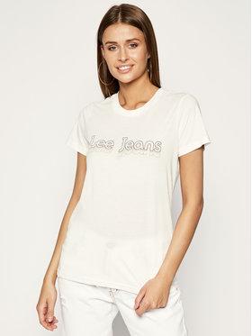 Lee Lee T-Shirt Pride Tee L40GWM59 Weiß Regular Fit