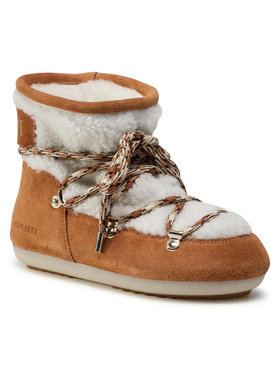 Moon Boot Moon Boot Μπότες Χιονιού Dk Side Low Shearling 24300500001 Λευκό