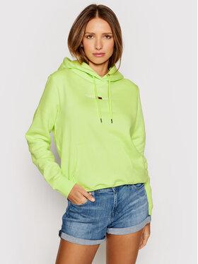 Tommy Jeans Tommy Jeans Bluză Tjw Linear Logo Hoodie DW0DW10132 Verde Regular Fit
