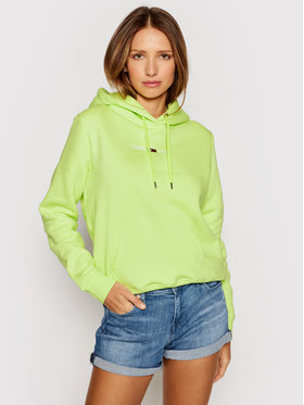 Tommy Jeans Tommy Jeans Bluza Tjw Linear Logo Hoodie DW0DW10132 Zielony Regular Fit