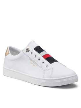 Tommy Hilfiger Tommy Hilfiger Sneakers Th Icon Slip On Sneaker FW0FW05918 Blanc