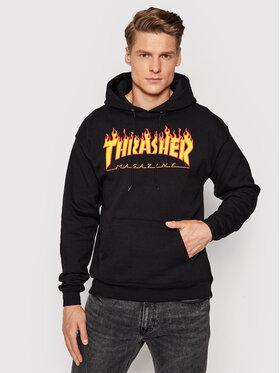 Thrasher Thrasher Mikina Flame Černá Regular Fit
