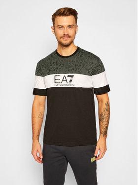EA7 Emporio Armani EA7 Emporio Armani T-Shirt 6HPT12 PJ02Z 1200 Czarny Regular Fit