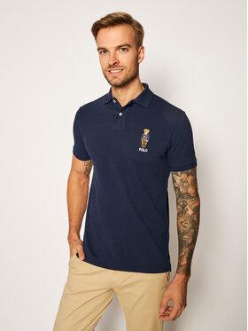 Polo Ralph Lauren Polo Ralph Lauren Polo marškinėliai Classics 710815187001 Tamsiai mėlyna Slim Fit