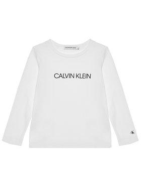 Calvin Klein Jeans Calvin Klein Jeans Bluse Institutional Logo IG0IG00627 Weiß Regular Fit