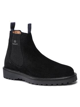 Gant Gant Kotníková obuv s elastickým prvkem Roden 23653206 Černá