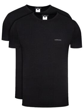 Versace Versace Set di 2 T-shirt Intimo AU04023 Nero Slim Fit