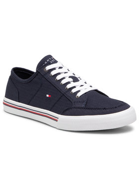 Tommy Hilfiger Tommy Hilfiger Πάνινα παπούτσια Core Corporate Textile Sneaker FM0FM03390 Σκούρο μπλε