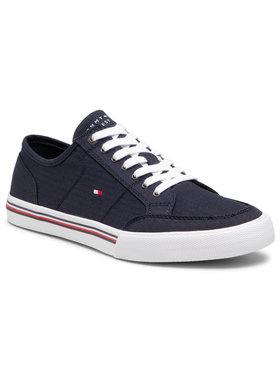 Tommy Hilfiger Tommy Hilfiger Tennis Core Corporate Textile Sneaker FM0FM03390 Bleu marine