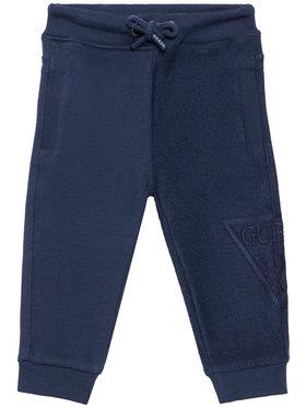 Guess Guess Teplákové nohavice N1RQ09 KA6R0 Tmavomodrá Regular Fit