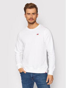 New Balance New Balance Bluza MT13661 Biały Athletic Fit