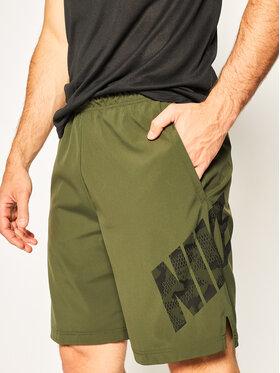 NIKE NIKE Pantaloncini sportivi Flex Camo CJ1972 Verde Standard Fit