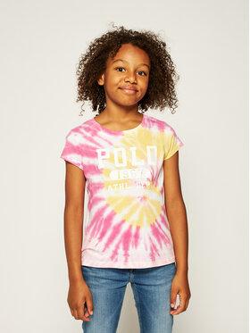 Polo Ralph Lauren Polo Ralph Lauren Tričko Tie Dye Tee 313803031001 Ružová Regular Fit