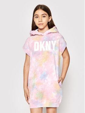 DKNY DKNY Ежедневна рокля D32780 S Розов Regular Fit