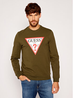 Guess Guess Bluza Audley M0YQ37 K7ON0 Zielony Slim Fit