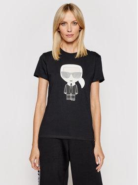 KARL LAGERFELD KARL LAGERFELD T-shirt Ikonik Karl 210W1721 Crna Regular Fit