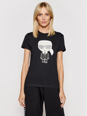KARL LAGERFELD KARL LAGERFELD T-Shirt Ikonik Karl 210W1721 Schwarz Regular Fit