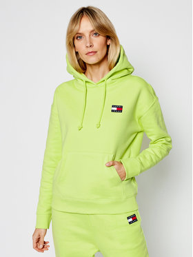 Tommy Jeans Tommy Jeans Суитшърт Tjw Badge DW0DW07787 Зелен Regular Fit