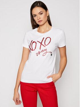 DKNY DKNY Marškinėliai P0JVNDNA Balta Regular Fit