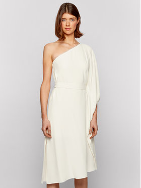 Boss Boss Коктейлна рокля Difanum 50442881 Бял Regular Fit