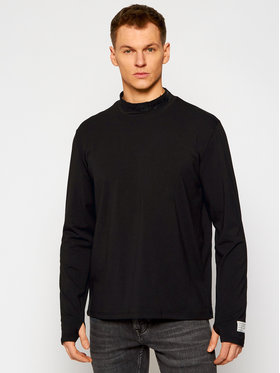 Guess Guess Marškinėliai ilgomis rankovėmis M0YI83 K49A1 Juoda Regular Fit
