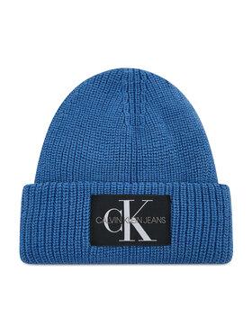 Calvin Klein Jeans Calvin Klein Jeans Čiapka Monogram Beanie Wl K50K506242 Modrá