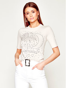 Just Cavalli Just Cavalli T-Shirt S02GC0385 Béžová Slim Fit