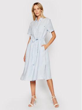 Tommy Hilfiger Tommy Hilfiger Marškinių tipo suknelė WW0WW32435 Mėlyna Regular Fit