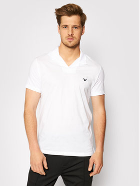 Emporio Armani Emporio Armani Тениска с яка и копчета 211837 1P472 00010 Бял Regular Fit